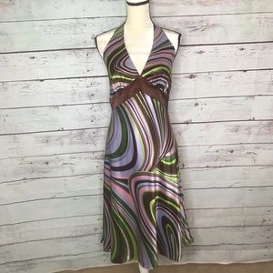 Laundry by Shelli Segal, NWT groovy halter dress